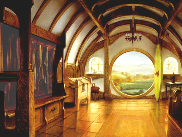 la maison de bilbo le hobbit. Black Bedroom Furniture Sets. Home Design Ideas